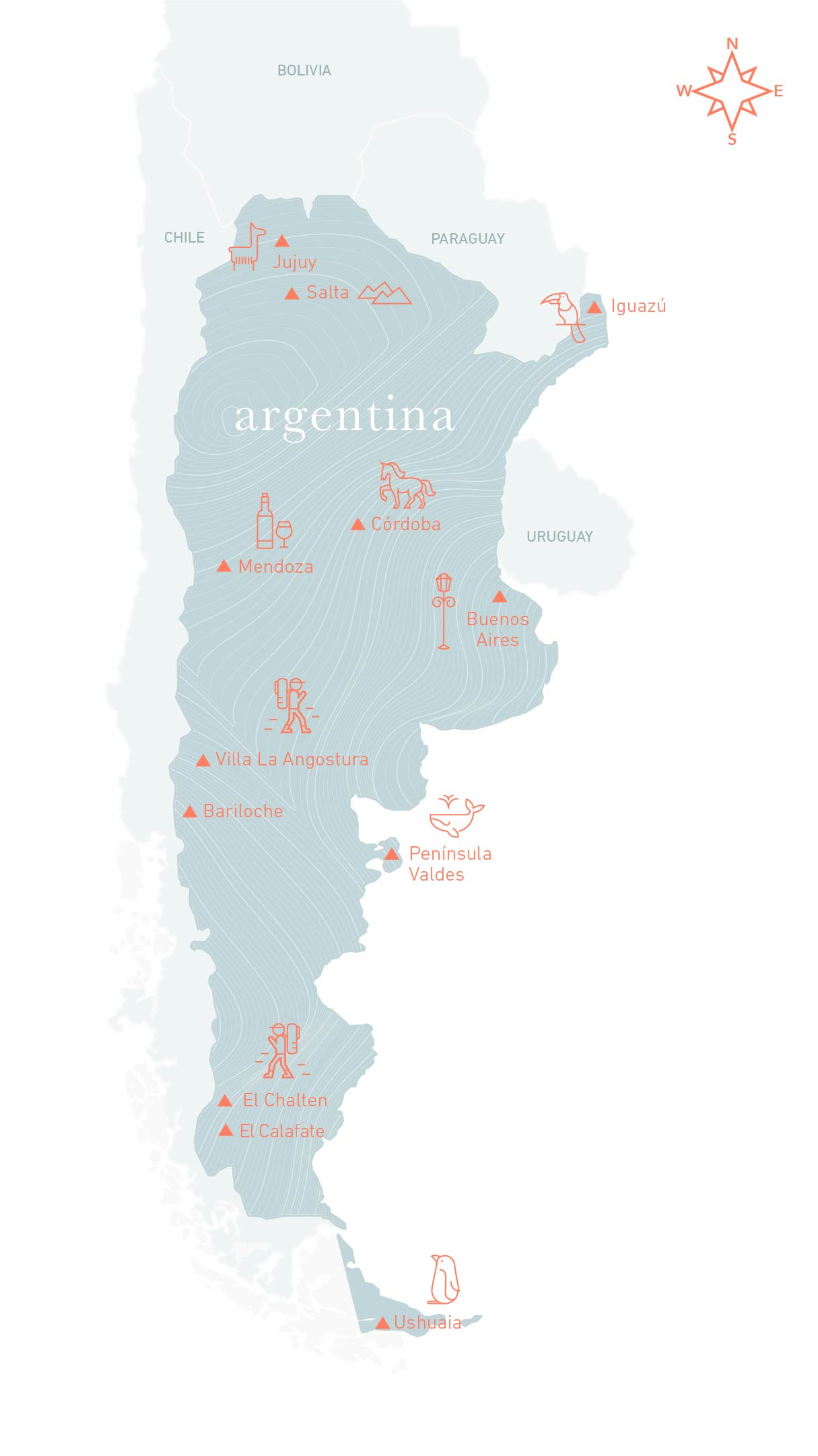 Travel to Argentina - Map